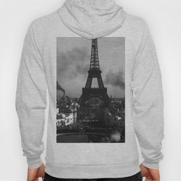 Eiffel Tower Black & White Hoody