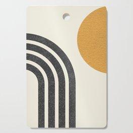 Mid century modern Sun & Rainbow Cutting Board
