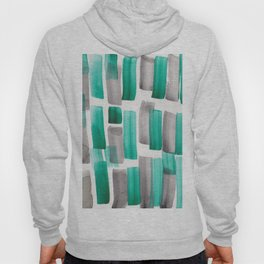Stripe  Black Green  190213 Watercolour Abstract Painting Hoody