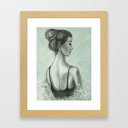 Spring Snow Devotchka Framed Art Print