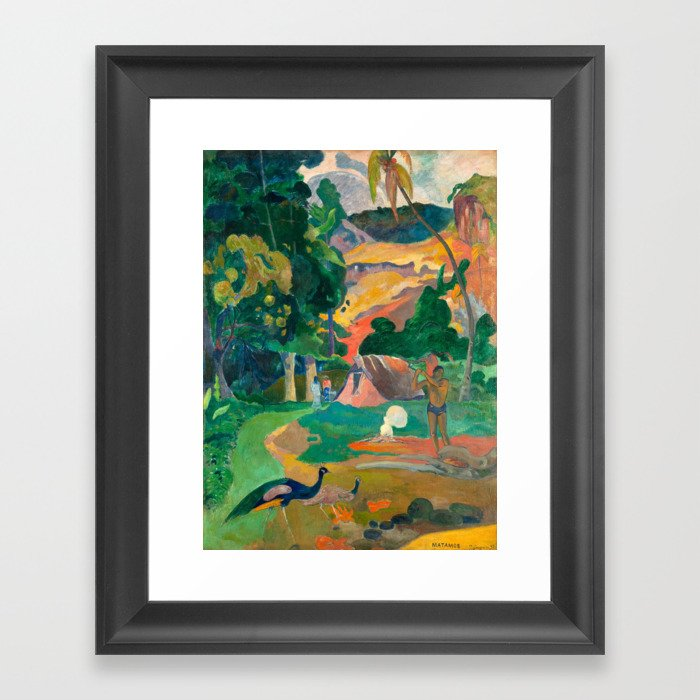 Paul Gauguin Matamoe, Landscape with Peacocks Gerahmter Kunstdruck