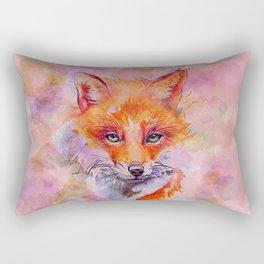 Watercolor colorful Fox Rectangular Pillow