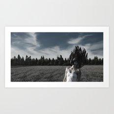 In a field Art Print
