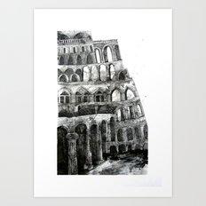 babel tower Art Print