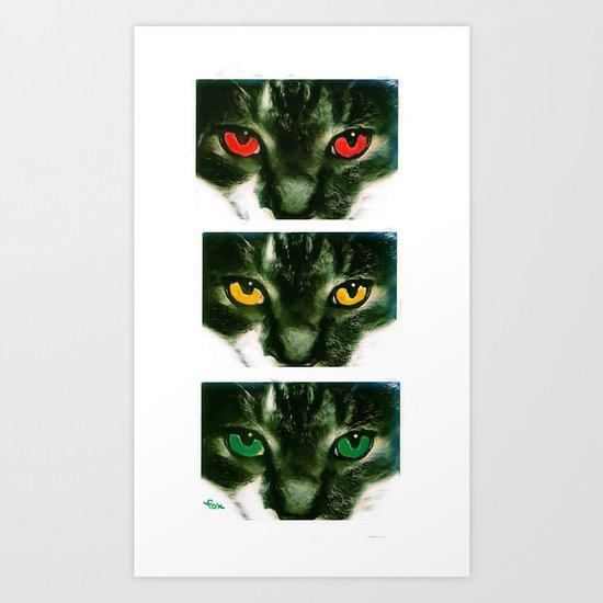 CAT CROSSING Art Print