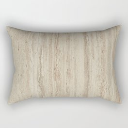 Beige Travertine Stone Texture Rectangular Pillow
