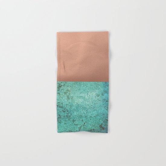 NEW EMOTIONS - ROSE & TEAL Hand & Bath Towel