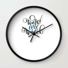 Time for Travel Wall Clock