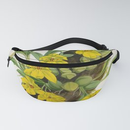 Vintage Yellow Orchids Log Lindenia Collection Fanny Pack