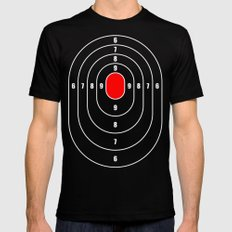 White oval target Mens Fitted Tee Black MEDIUM
