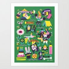 Funfair Art Print