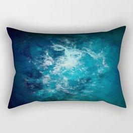 Deep Blue Interstellar Dust Rectangular Pillow