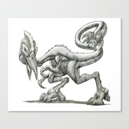 The Mossback Tyrannadactyl Canvas Print