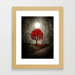 Red autumn. Framed Art Print