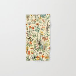 Wildflower Diagram // Fleurs II by Adolphe Millot XL 19th Century Science Textbook Artwork Hand & Bath Towel