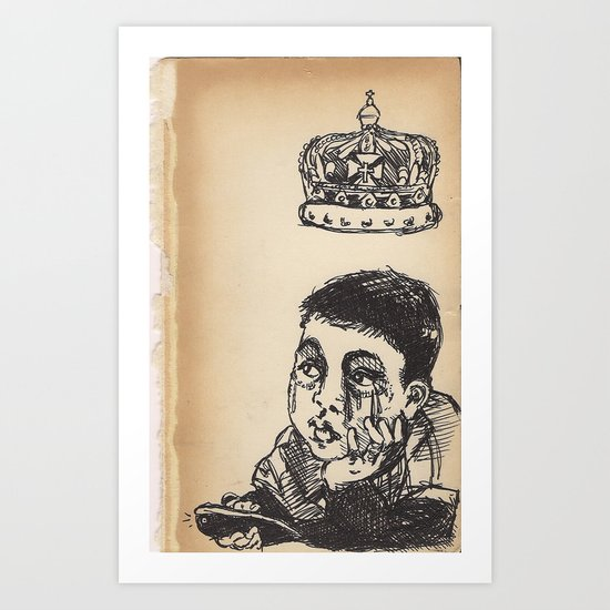 child remote control crown  Art Print