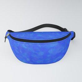 Cobalt Blue Cloud Texture Fanny Pack