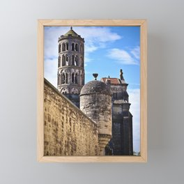 Nice view on the church in Uzes Framed Mini Art Print