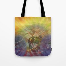 Lion Gator Space Moon River Tote Bag