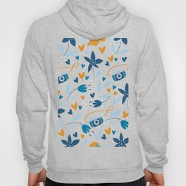 floral & photo Hoody