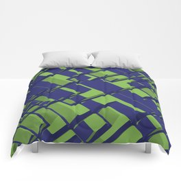 3D Abstract Futuristic Background III Comforters