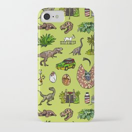 Jurassic pattern lighter iPhone Case