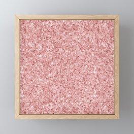A Touch of Pink Glitter Framed Mini Art Print