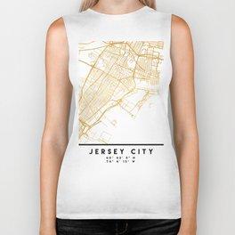 JERSEY CITY NEW JERSEY STREET MAP ART Biker Tank