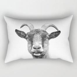 Black and White Goat Rectangular Pillow