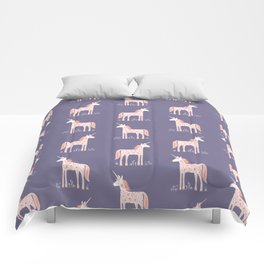 Unicorn with Flowers Comforters