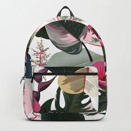 Hawaiian Jungle IV Tropical Flowers and Foliage Backpack