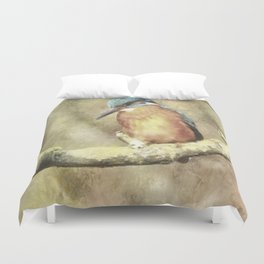 Stunning Kingfisher In Watercolor Duvet Cover