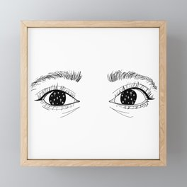 Stars in her eyes Framed Mini Art Print