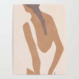 abstract minimal girl Poster