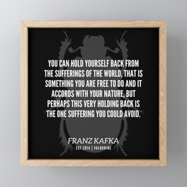 43   |  Franz Kafka Quotes | 190517 Framed Mini Art Print