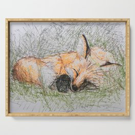 Sleepy Fox Serving Tray