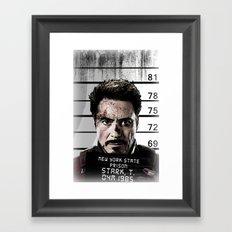 Tony Stark jailed Framed Art Print