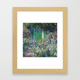 Monet's Door — Giverny, France Framed Art Print