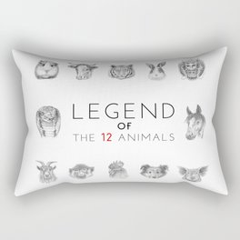 Legend of The 12 Animals Rectangular Pillow