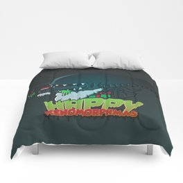 Happy Xenomorphmas Comforters
