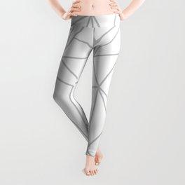 Geometric Cobweb (Gray & White Pattern) Leggings
