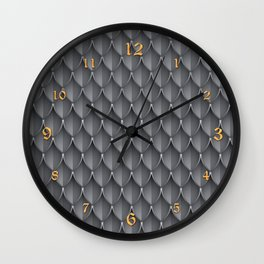 Medieval Fantasy | Metal scales  pattern Wall Clock
