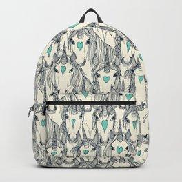unicorn love indigo mint pearl Backpack