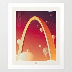 Gateway Arch Travel Poster Art Print