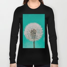 Green Blue Dandelion Long Sleeve T-shirt