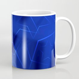 Crossed waves of light from flowing blue stars on fibers of a veil with dark sparkling transitions Coffee Mug