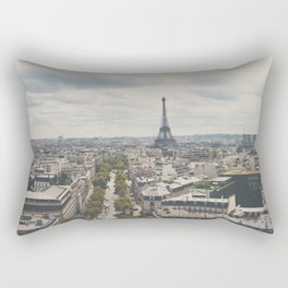 Paris from atop the Arc de Triomphe ... Rectangular Pillow