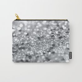 Silver Gray Lady Glitter #1 #shiny #decor #art #society6 Carry-All Pouch