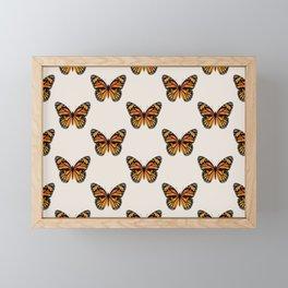 Monarch Butterfly Pattern Framed Mini Art Print
