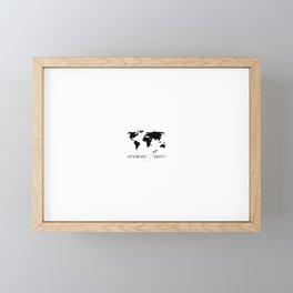 Adventure Map II Framed Mini Art Print